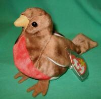 TY Beanie Baby Early the Robin Bird Retired MWMT Birthdate  March 20 1997