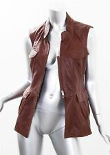 PHILOSOPHY di ALBERTA FERRETI Womens Sheep Leather Vest Sleeveless Jacket 6-42