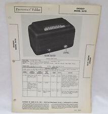 Vintage Photofact Folder Crosley Model 56TG Radio Parts Manual