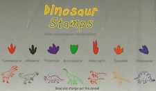 DINOSAUR STAMPS Animals Footprints SET of 7 DIFFERENT T-Rex Triceratops