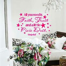 Wall Decal Tinkerbell All You Need is Faith Trust Pixie Dust Vinyl Decor