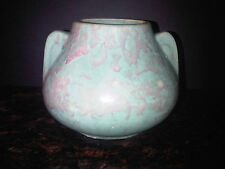 BURLEY WINTER POTTERY DRIP GLAZE GREEN TURQUOISE & MAUVE BULB JARDINIERE PLANTER