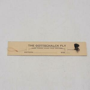 Vintage Gottschalck Handtied Fly Fishing Lure On Card made in England