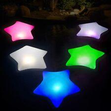 Luz Piscina Solar Flotante, Inflables Estrella Luz Solar Exterior, Luces LED