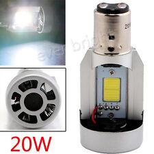 BA20D 20W COB LED Light Bulb Car Motorcycle Hi/Lo Headlight Front Fog Lamp w Fan