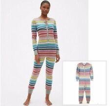GAP Love By Gap Crazy Stripe Union Suit Long Johns Pajamas (M) ***NEW***