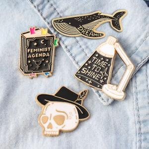 Halloween Cartoon Enamel Collar Fashion Pin Corsage Brooch Xmas Jewelry Gift