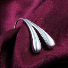 925 Silver Plated Hook Earrings Dangle Jewelry Fashion Ear Studs New Water Drop