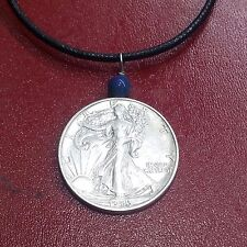Authentic U S  Walking Liberty Helf Silver Dollar 1934P 900 Silver Coin Pendant
