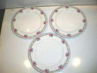 3 NIKKO VICTORIA PATRA ROSES AND BLUE RIBBONS SALAD PLATES  8''