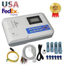 US Seller Digital single channel 12-lead ECG/EKG machine Electrocardiograph ,FDA