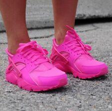 Nike Huarache Run - 654275-607 - Hot Pink / Laser Fuscia - Youth Sz 4 = Wmns 5.5