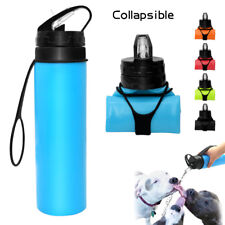 Large Dog Water Bottle Portable Dog Cat Pet Puppy Drinker Travel Bowl 600ML
