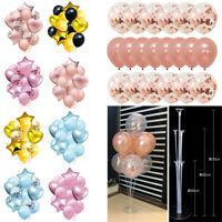 14/30Pcs Rese Gold Foil Confetti Latex Balloons Wedding Birthday Party Decor