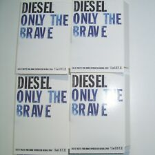 DIESEL ONLY Uomini THE BRAVE EDT 4 x 1.5 ML SPRAY CAMPIONE FIALE NUOVO