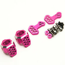 New Alloy Steering Front Knuckle Set for SAKURA D4 AWD RWD 1/10 RC Crawer Pink