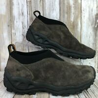 Merrell 6.5M Winter Moc Casual Loafer Gray Suede Microfiber Ankle Trim Womens