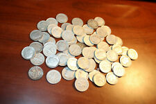 65 Roosevelt Dimes, 1964 and Older, Mixed Condition