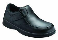ORTHOFEET Men's CARNEGIE Orthopedic SHOES & BOX Slip-On LOAFERS BLACK Size 11 W