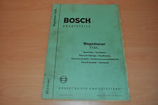 Ersatzteile Bosch Wagenheizer XY EVE 651/1 Ersatzteilliste Wagen Heizer
