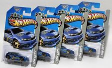 SUBARU WRX STI * LOT OF 4 * 2013 HOT WHEELS * BLUE w/ GOLD MC5 WHEELS VARIATION