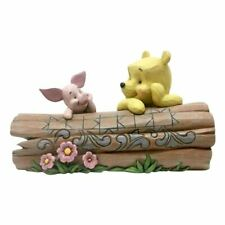 Disney Traditions Pooh and Piglet On A Log Collectors Figurine - Boxed