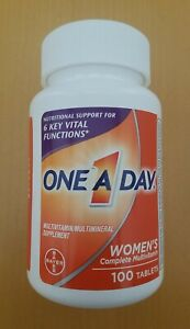 WOMEN'S ONE A DAY COMPLETE MULTIVITAMIN VITAMIN SUPPLEMENT 100 TABLETS