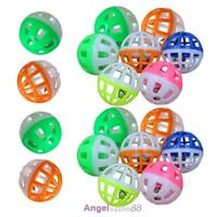 18Pcs Pet Cat Kitten Play Balls With Jingle Bell Pounce Chase Rattle Toy