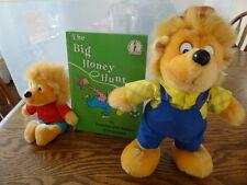 "BERENSTAIN BEARS  13"" PAPA & 9"" SON BEAR  PLUSH  TOYS with SEUSS story book"