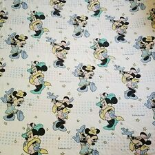 Disney Minnie Mouse Flannel Twin Bed Sheet Set Flat Fitted Bedding Novelty 2 pc