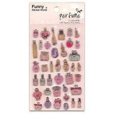 CUTE PERFUME BOTTLE STICKERS Raised Gel Sticker Sheet Kids Girls Craft Scrapbook