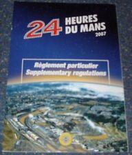 Le Mans 2007-du Mans-oficial las normas complementarias-guía de medios de prensa