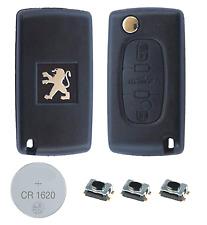 Fits Peugeot 407 3 Button KEY FOB REMOTE CASE Repair Fix Kit VA2 key blade