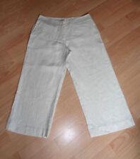 Wide Leg Linen Petites Capri, Cropped Trousers for Women