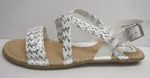 b.o.c Born Size 7 White Gray Sandals New Womens Shoes
