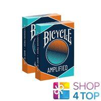 2 DECKS BICYCLE AMPLIFIED POKER PLAYING CARDS MAGIC TRICKS USPCC NEW