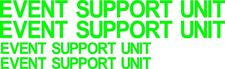 Support Unit 900mm 600mm decals stickers graphics Emergency First Aid Ambulance