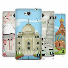 HEAD CASE DESIGNS DOODLE CITIES SERIES 3 SOFT GEL CASE FOR SONY PHONES 3