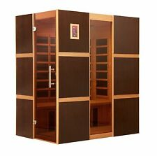 Dynamic 3 Person Low EMF Far Infrared Sauna 9 Carbon Heating Panels NEW