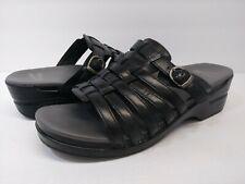 Dansko Marion Black Slides Clog Sandal Shoe Women's Size 41 (US 10.5)