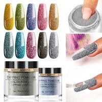 10Pcs/Set MEET ACROSS 10ml Dipping Powder Glitter Dip System DIY Nail Art Tips