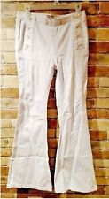Free People Jeans Size 31 White Flare Stretch