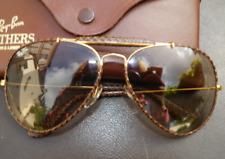 3ba4d1c2a6 Lunettes de soleil B&L RAY- BAN aviator photochromatique cuir années 90  vintage