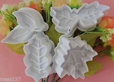 4 Moules Emportes Pieces FEUILLES D'AUTOMNE Cake design Pate à Sucre & Amande