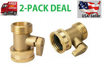 3/4'' Inch Garden Hose Shut Off Valve Water Pipe Faucet Connector Handy(2 PACKS)