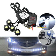 4pcs Xenon White LED Eagle Eye Knight Night Rider Scanner Lighting DRL+ Remote