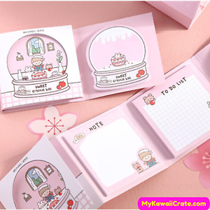 Sweet Crystal Ball Memo Notes and Sticky Notes 120 Sheets Set ~ Planner Notes