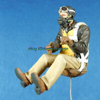 Unassembled1/32 WWII US Pilot Figure Model Unpainted Aviator  Garage Kits Resin