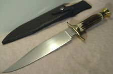 1990's~VOORHIS~MOUNTAIN MAN STAG BOWIE~UNUSED~HUNTING & FIGHTING KNIFE w/SHEATH~