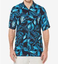 Men's Cubavera Allover Tropical Print Shirt - Dress Blues, Size: L